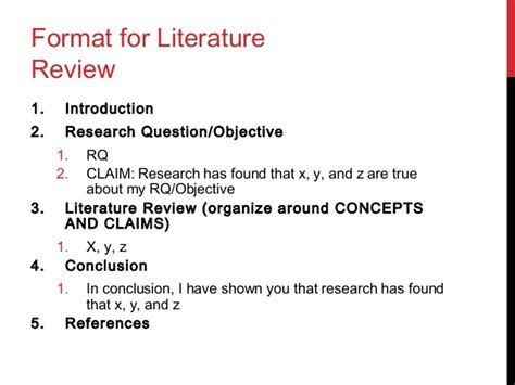literature reviews   style