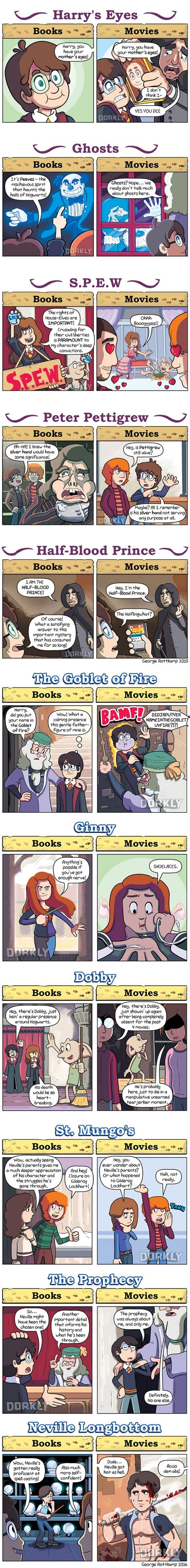 one day film book differences the unnoticed differences between the hp books and the hp
