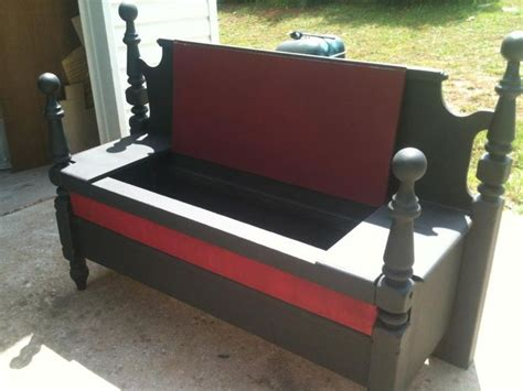bench from headboard and footboard old headboard and footboard made into a bench but it is a