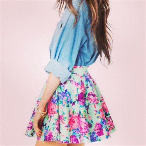 skirt mini skirt floral floral skirt summer