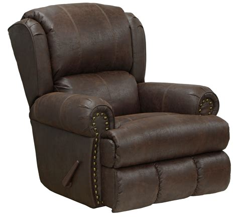 catnapper dempsey leather recliner by oj commerce 659 00