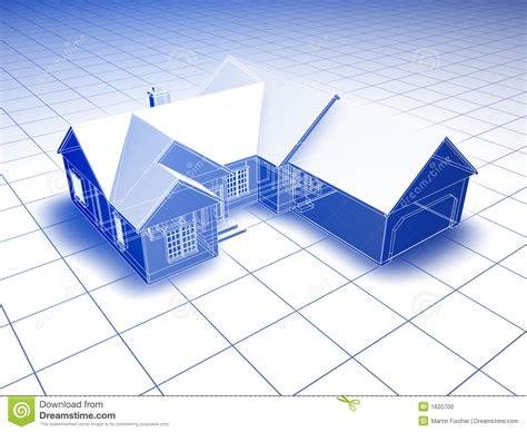 Design House Business Model blueprint house stock photo image 1620700