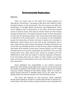 Essay About Environment by Essay On Human Impact On The Environment Writefiction581 Web Fc2