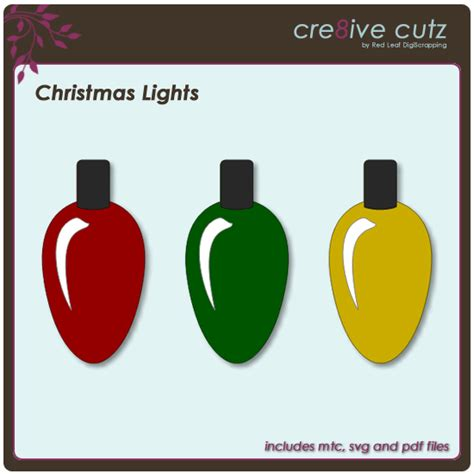 christmas lights cutting cre8ive cutz 3d svg cutting files for electronic cutting machines lights free