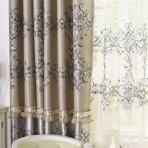 gothic curtains gothic floral window blind curtaind set sheer curtain