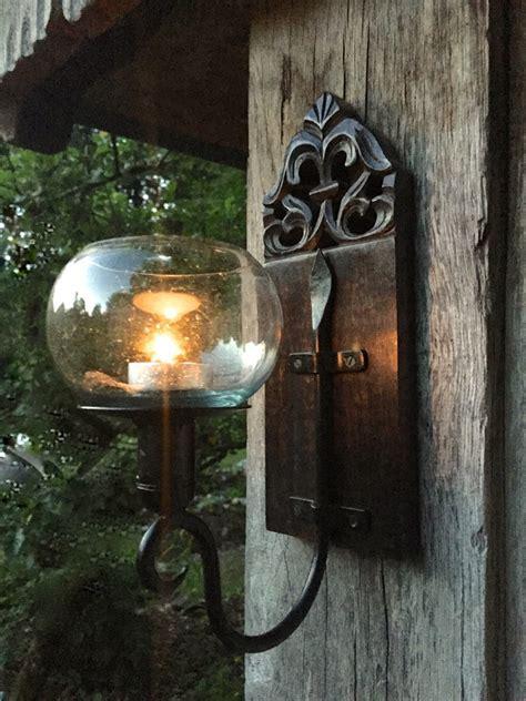 wand windlicht kerzenhalter windlicht im kolonialstil handgefertigt wand