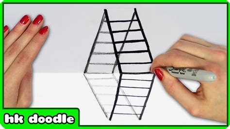 how to make 3d illusion l illusion drawings step by step www imgkid com the