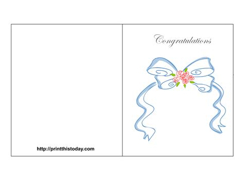 free card template free printable wedding congratulations cards