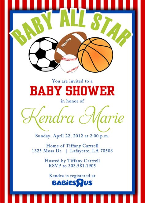 Themed Baby Shower Invitations by Sport Themed Baby Shower Invitations Cimvitation