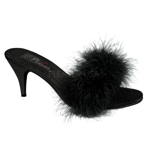 sexy bedroom slippers sexy bedroom 3 quot marabou classic pleaser slippers