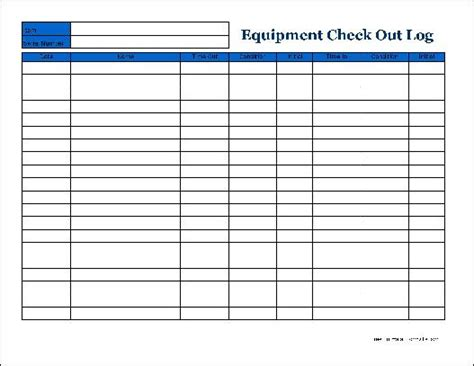 best photos of check out log template equipment check