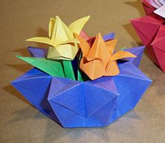 12 Inch Origami Paper - origami 8 cornered basket
