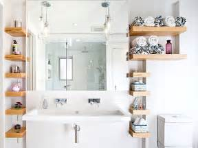 Bathroom Open Shelves Cool Bathroom Storage Ideas