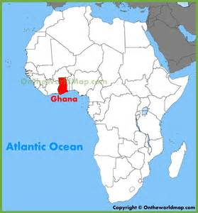 Ghana World Map by Ghana Location On The Africa Map