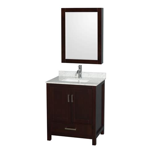 30 Inch Bathroom Vanity Cabinet Accmilan 30 Inch Transitional Espresso Bathroom Vanity Set Doweled Drawers