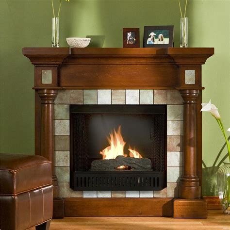 southern enterprises inc slate gel fuel fireplace