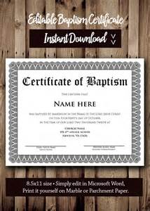 water baptism certificate template baptism certificate template microsoft word editable