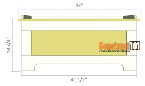bench plan view storage bench plans pdf download construct101