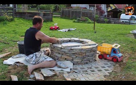 gasfeuer garten feuerstelle aus naturstein selber bauen so holen