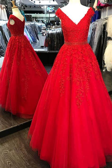 princess  neck pink lace appliques long prom dress