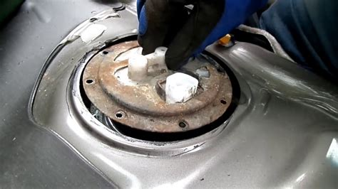 toyota camry fuel pump removal sending unit checking youtube