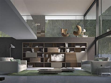 presotto industrie mobili parete attrezzata componibile laccata in legno crossart
