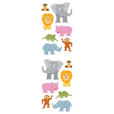 Animal Stickers jungle animal stickers the container store