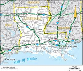 louisiana driving map louisiana travel planning