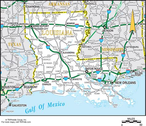 road map of texas and louisiana louisiana map