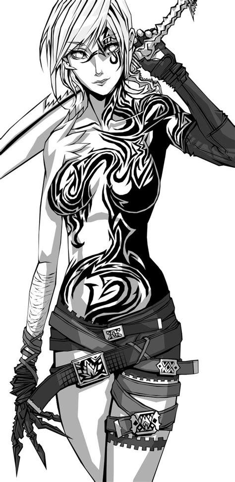female warrior by tekkoontan on deviantart