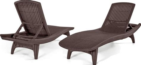 Rattan Chaise Lounge Chairs by Keter 2pc Rattan Outdoor Chaise Lounge Chairs Patio Table