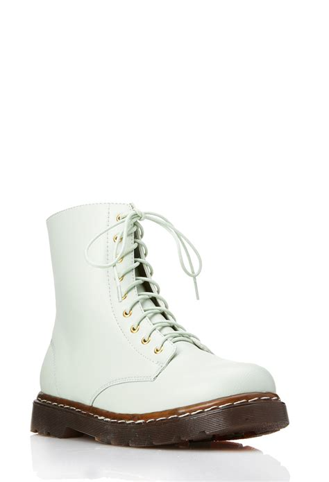 Boots Shoes L Gold 21 25 forever 21 sleek combat boots in green lyst