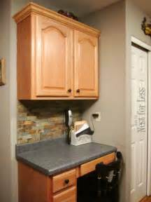kitchen desk cabinet mini makeover crown molding on my kitchen cabinets how to nest for less