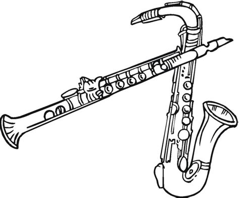 coloring pages woodwind instruments free music coloring pages