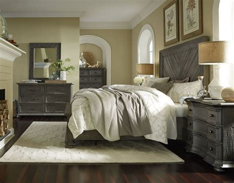 gray washed bedroom furniture cheswick washed linen grey panel storage bedroom set from