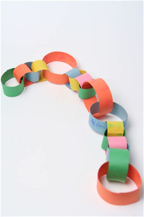 Make A Paper Chain - make a paper chain activity education