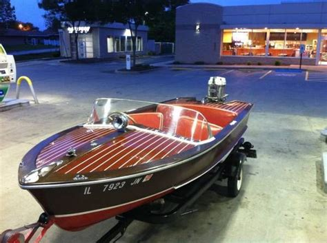 runabout boat wood carver boats special runabout wood 1953 for sale for