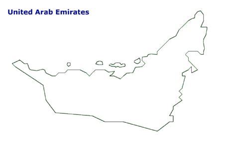 map of united arab emirates terrain area and outline