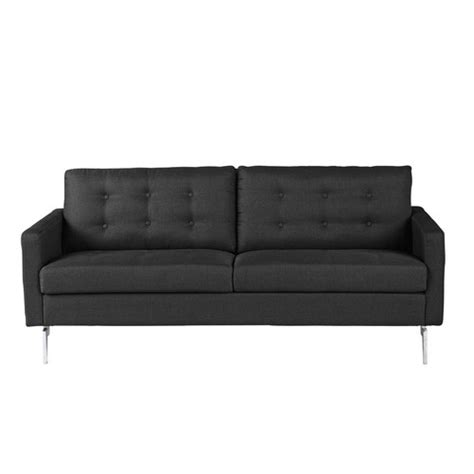 2 3 Seater Sofa by 2 3 Seater Fabric Sofa In Charcoal Grey Victor Maisons