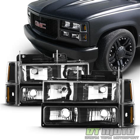 1998 gmc suburban parts black 1994 1998 gmc c k yukon suburban headlights