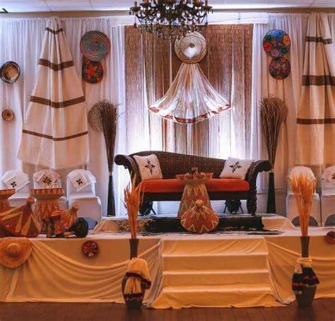 Ethiopian Traditional Wedding Backdrop Design