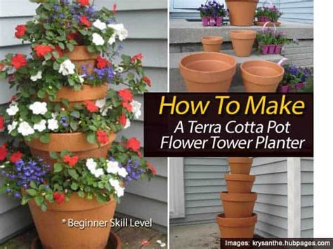 flower tower planter how to make a terra cotta pot flower tower planter with annuals