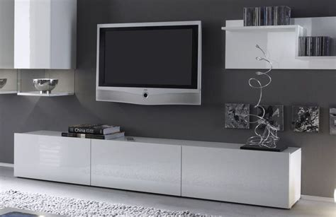 meuble tv d angle laque blanc