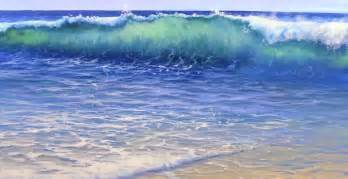 Beach Scene Wall Murals how to paint water on a beach mural joe youtube