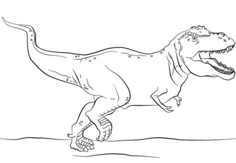 tutorial gambar dinosaurus jurassic park t rex coloring page free printable
