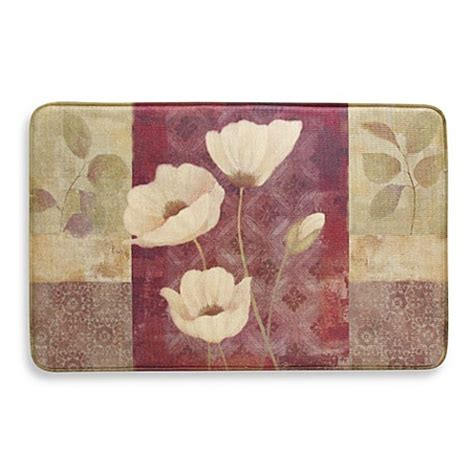 Poppy Kitchen Rug Bacova Plum Poppy 20 Inch X 34 Inch Memory Foam Slice Rug Bed Bath Beyond