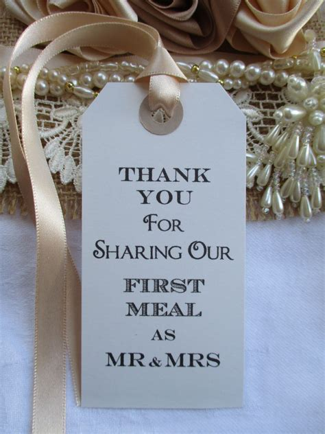 10 Thank You for Sharing Our First Meal as Mr & Mrs Napkin