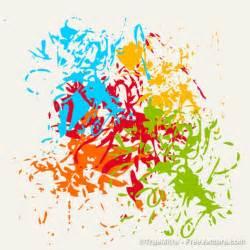 splash of color hours brushes colorful splash background vector free