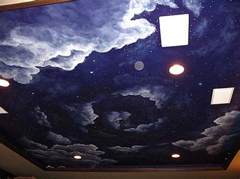 Sky Ceiling by Cloudy Sky Ceiling Mural Sun Moon And