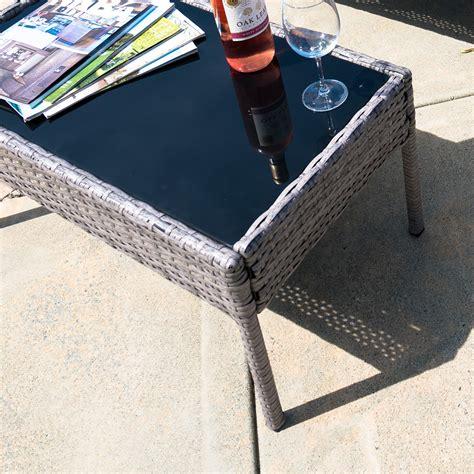 cushioned patio chairs 4pc rattan wicker patio furniture set sofa chair table
